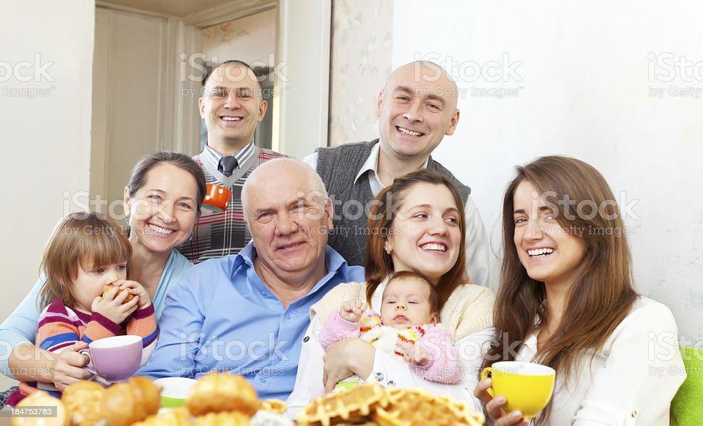 happy multigeneration family royalty-free stock photo
