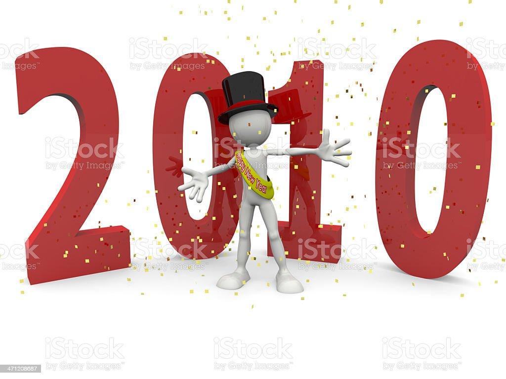 Feliz nuevo 2010 foto de stock libre de derechos