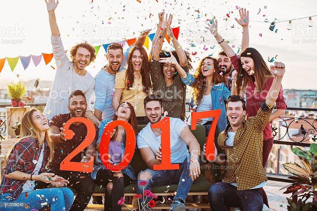 Happy New 2017 Party stock photo