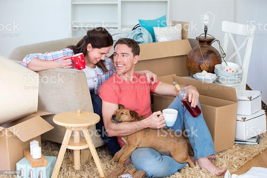 Happy New Home stock photo