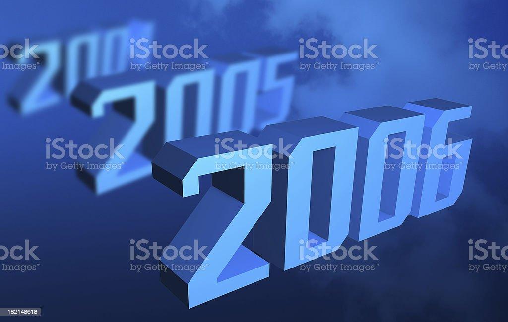 Happy new year 2006 royalty-free stock photo