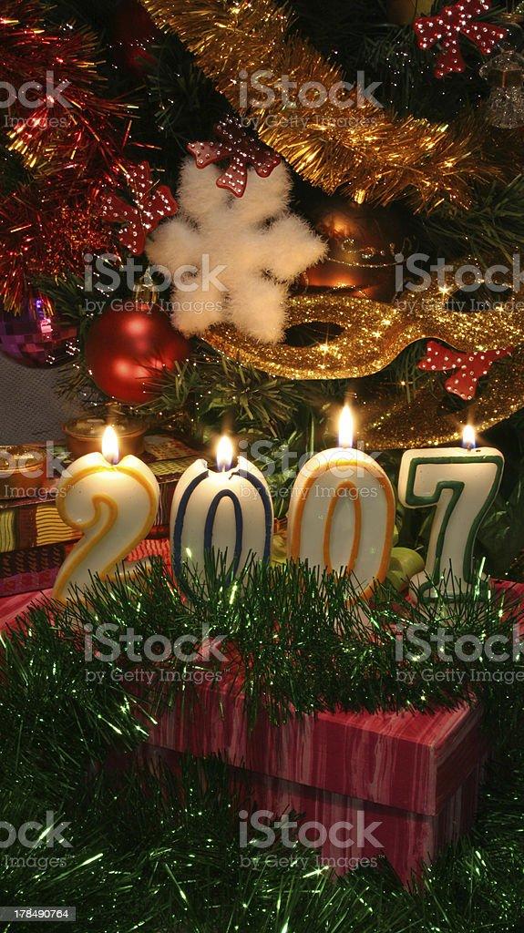 Happy New Year 2007 royalty-free stock photo
