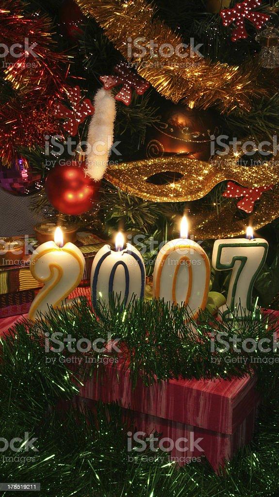 Happy New Year 2007 v2 royalty-free stock photo