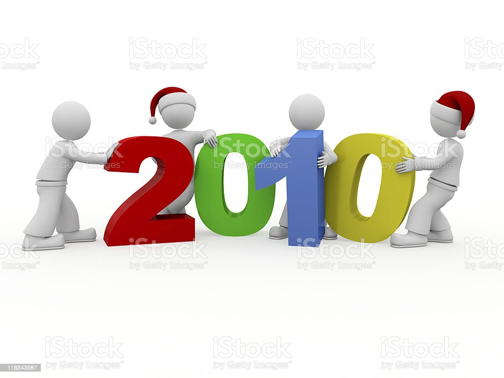 Happy new year 2010! royalty-free stock photo