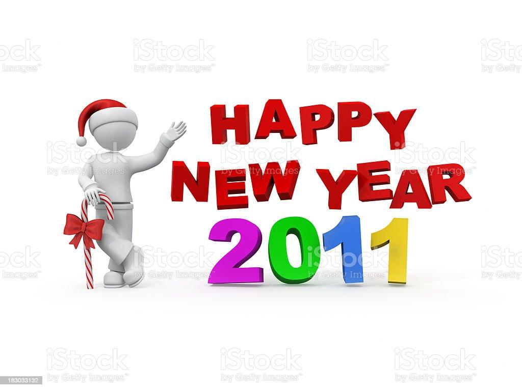 Happy New Year 2011. royalty-free stock photo