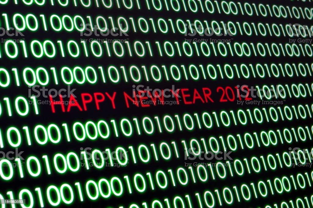 Happy new year 2012 royalty-free stock photo
