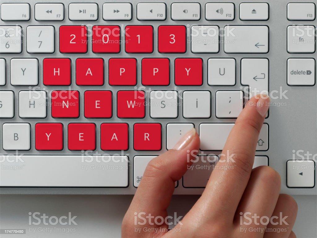 Happy new year 2013 royalty-free stock photo