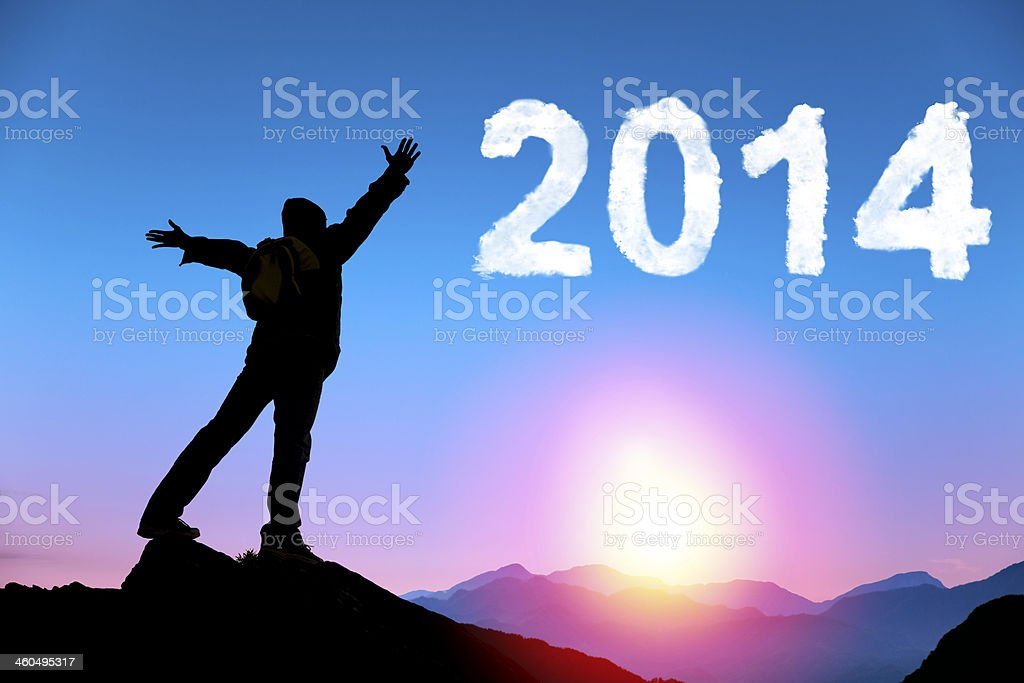 happy new year 2014 royalty-free stock photo
