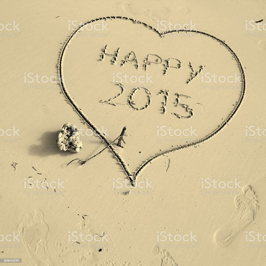 Happy new year, 2015 stock photo