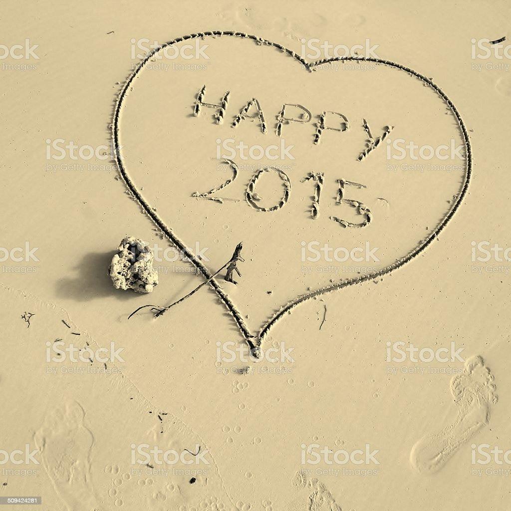 Happy new year, 2015 stock photo