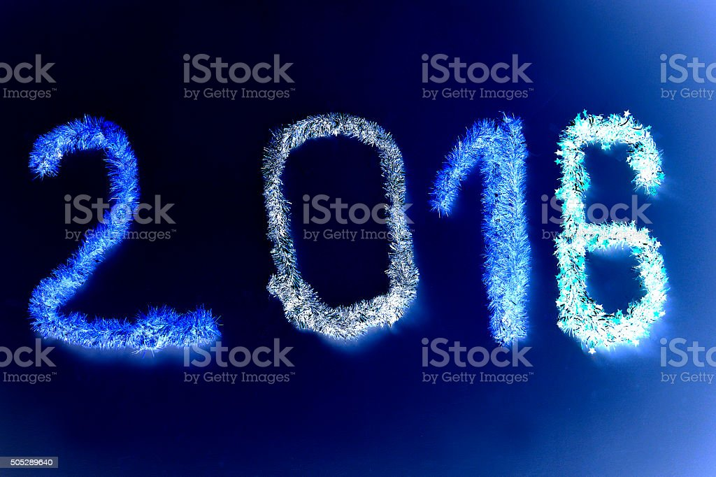 Happy New Year - 2016 stock photo