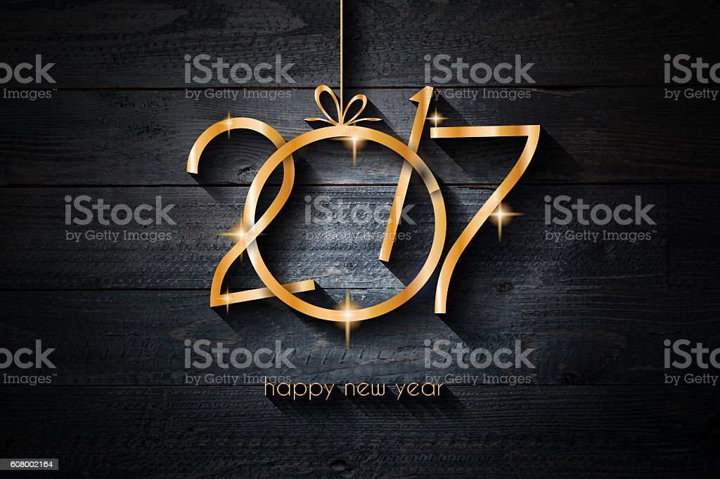 Happy New Year 2017 Background for your Flyers stock photo