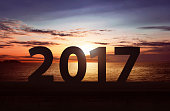 Happy New Year 2017 Concept
