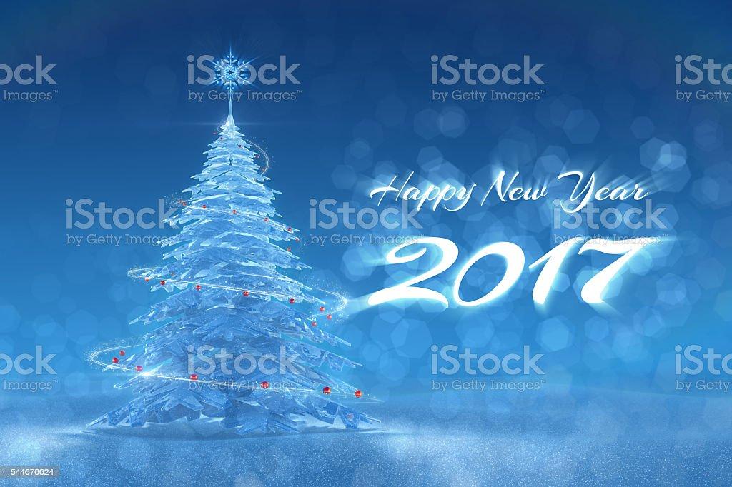 'Happy New Year - 2017' Festive Design stock photo