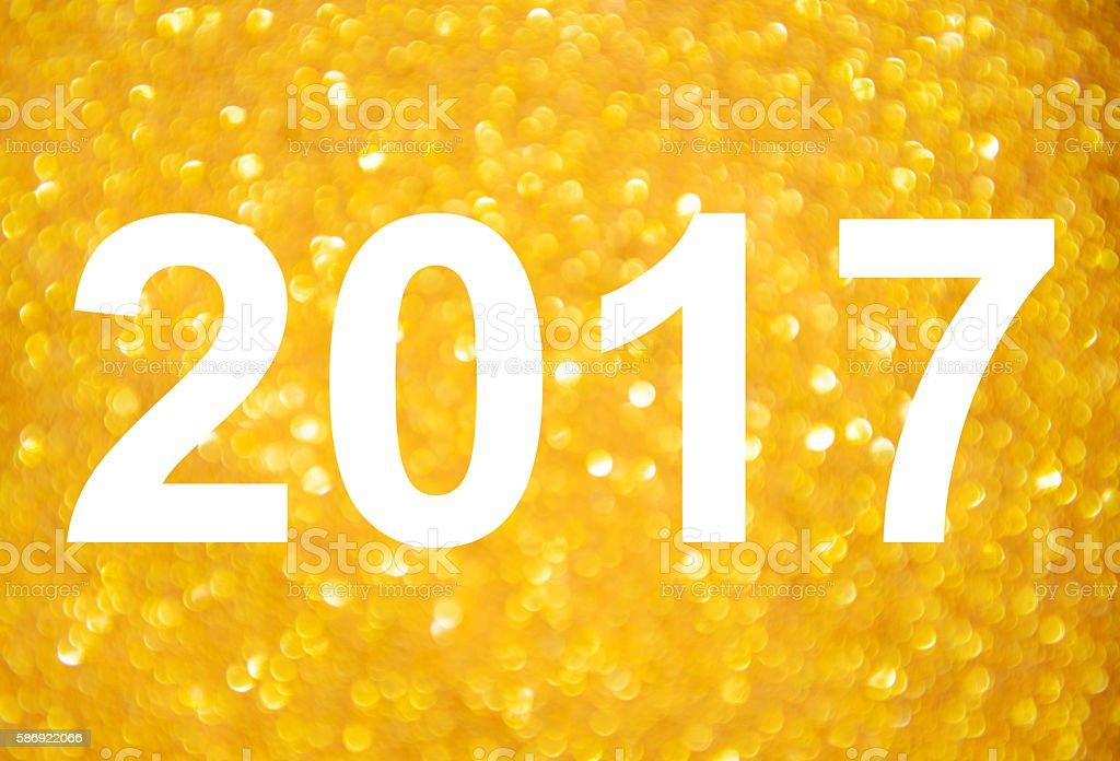 Happy new year 2017 stock photo