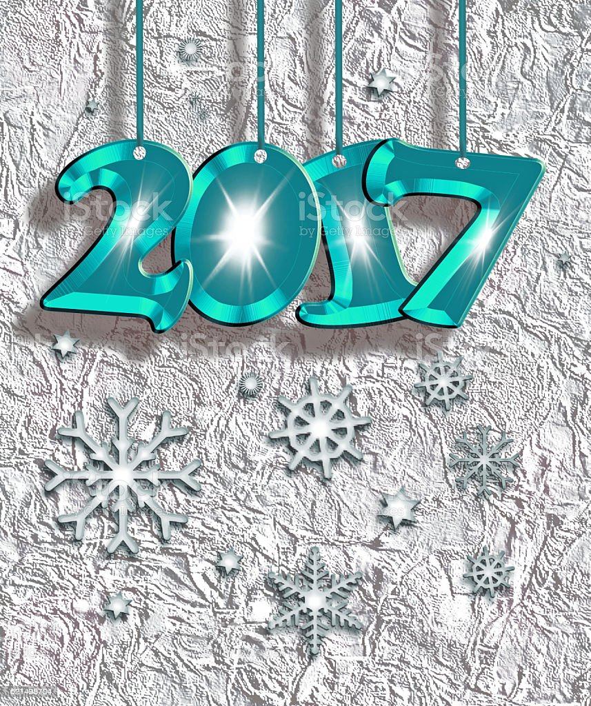 Happy New Year 2017 ! stock photo