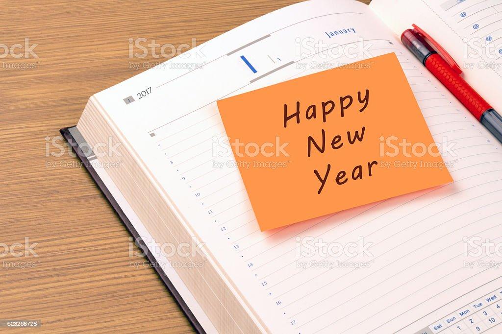 Happy New Year - 2017 stock photo