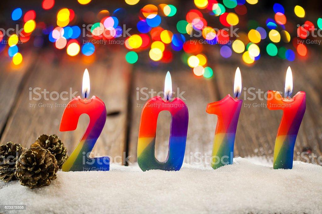 Happy New Year 2017. stock photo