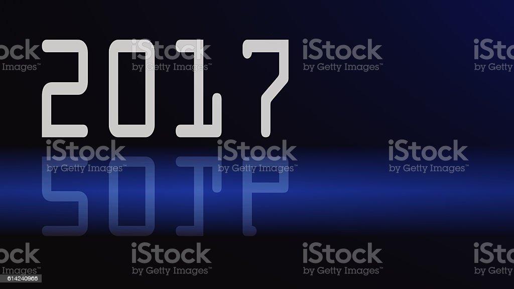 Happy new year 2017 Text stock photo