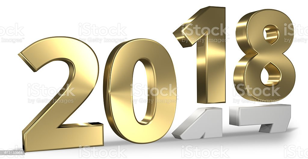 happy new year 3d render design stock photo