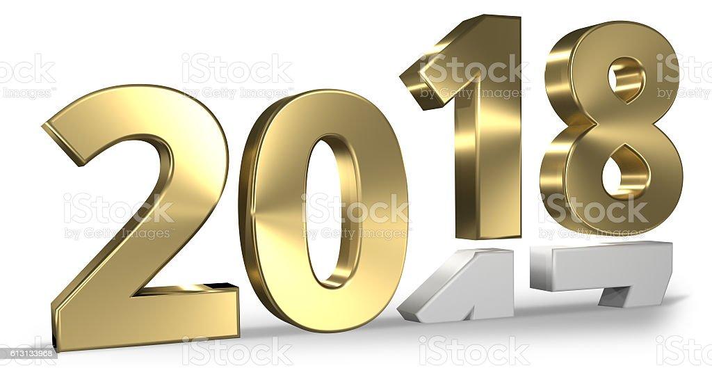 happy new year 3d render design stock photo