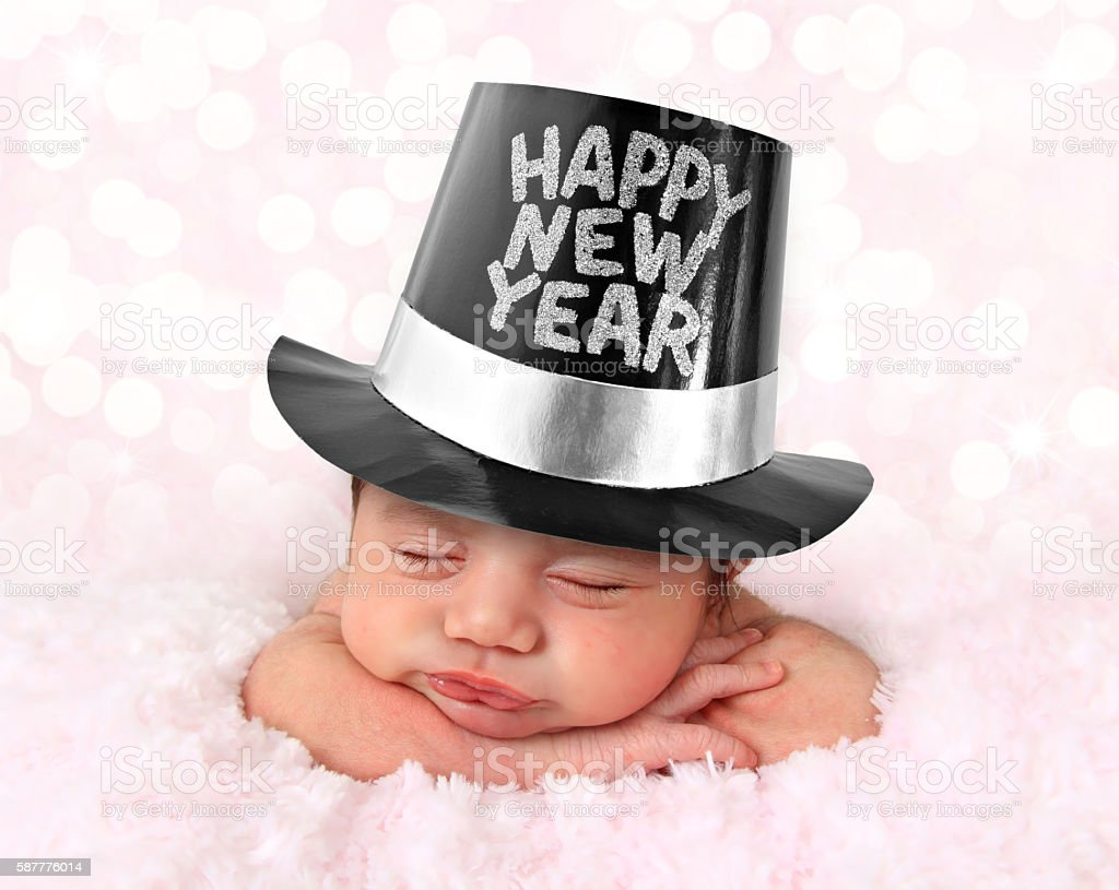 Happy New Year baby stock photo