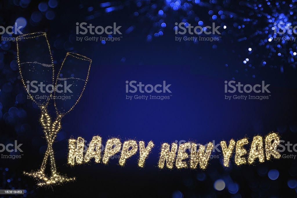 Happy new year background. royalty-free stock photo
