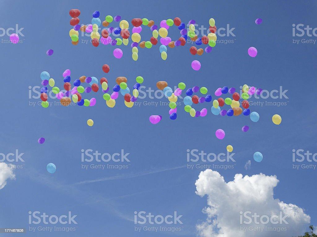 happy new year balloons royalty-free stock photo