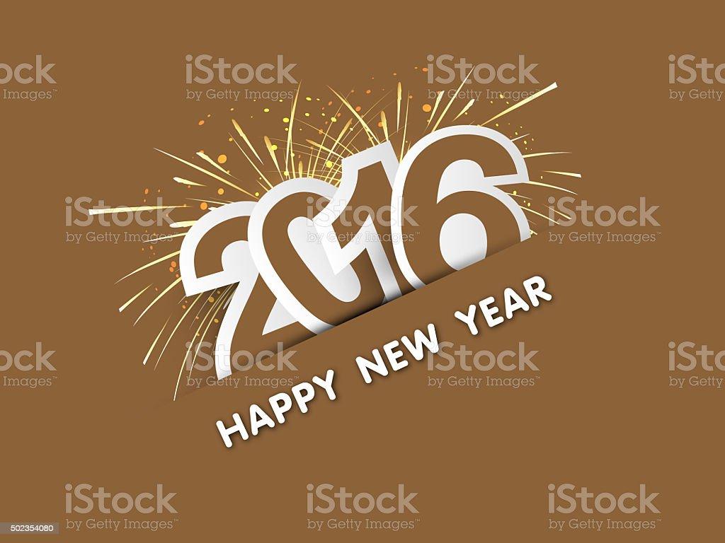 Happy new year Card 2016 stock photo