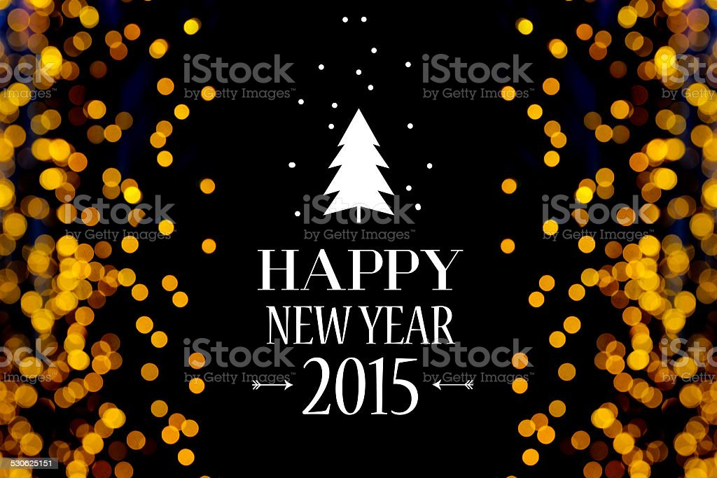 Happy New Year Card. stock photo