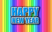 Happy New Year colorful celebration background.