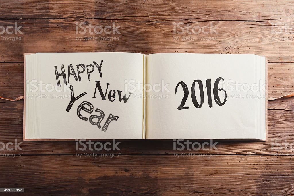 Happy new year composition stock photo