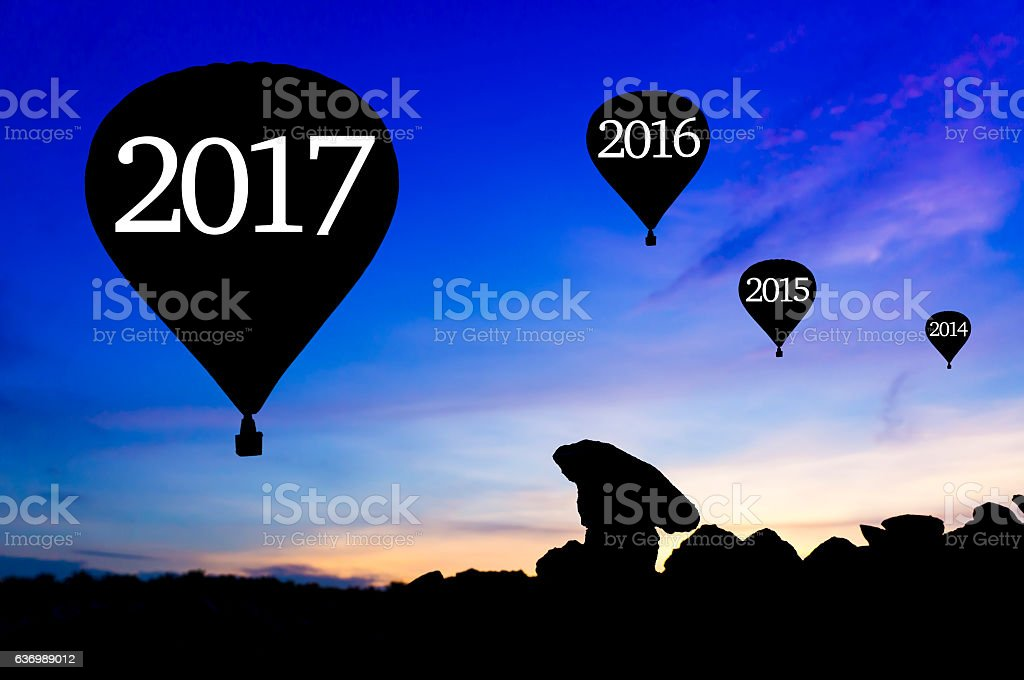 Happy new year concept stock photo