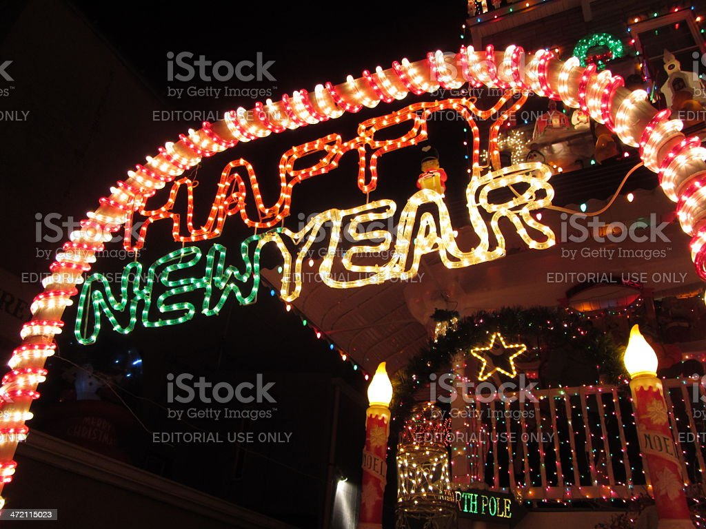 Happy New Year From Baltimore stock photo