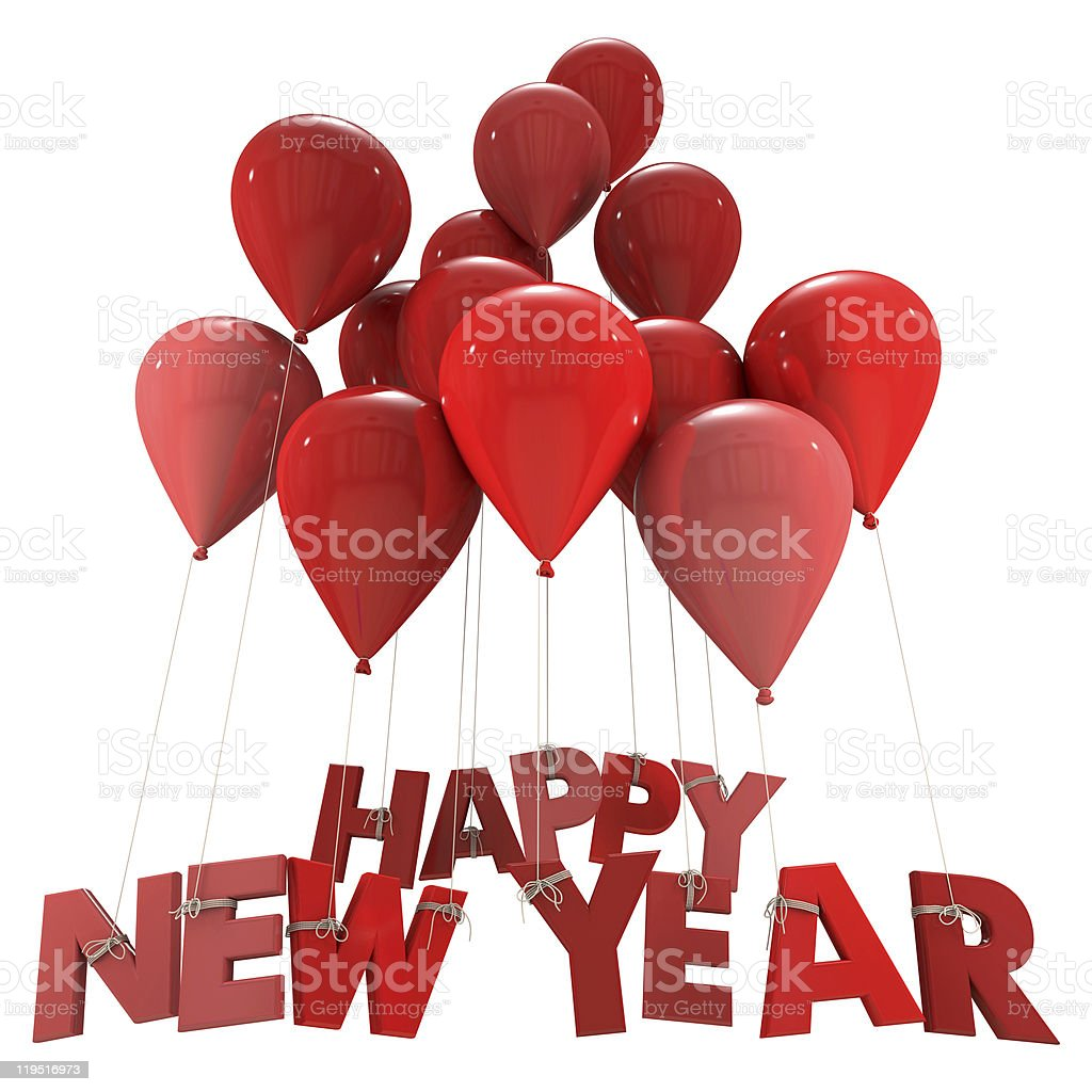 Happy New Year in red stock photo
