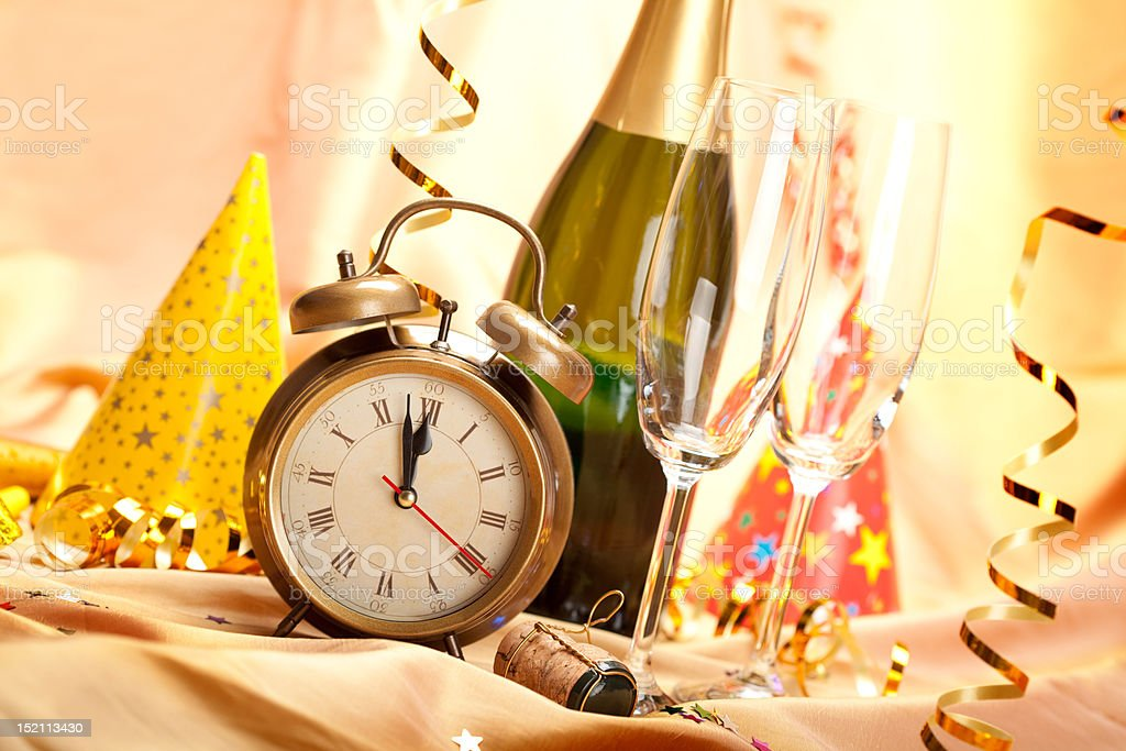 Happy new year - party decoration royalty-free stock photo