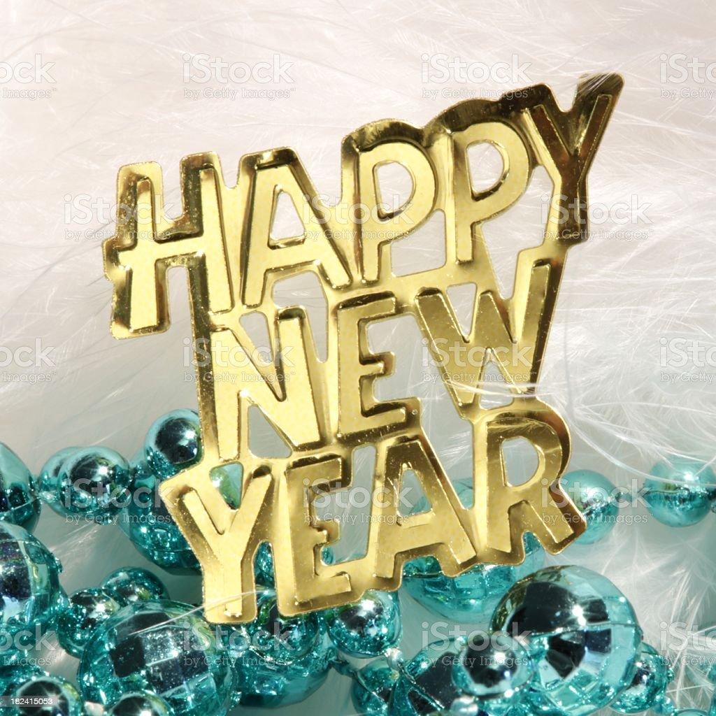 Happy New Year Square stock photo