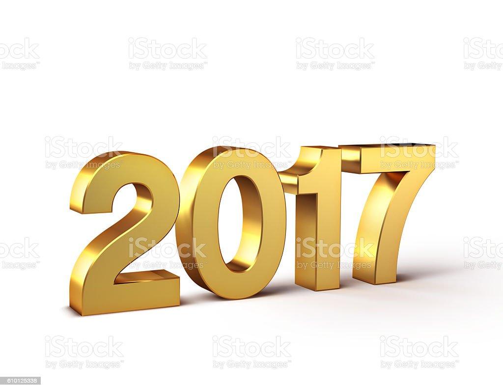 2017 Happy New Year type stock photo