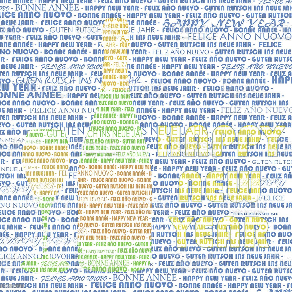 happy new year words in champagne stock photo