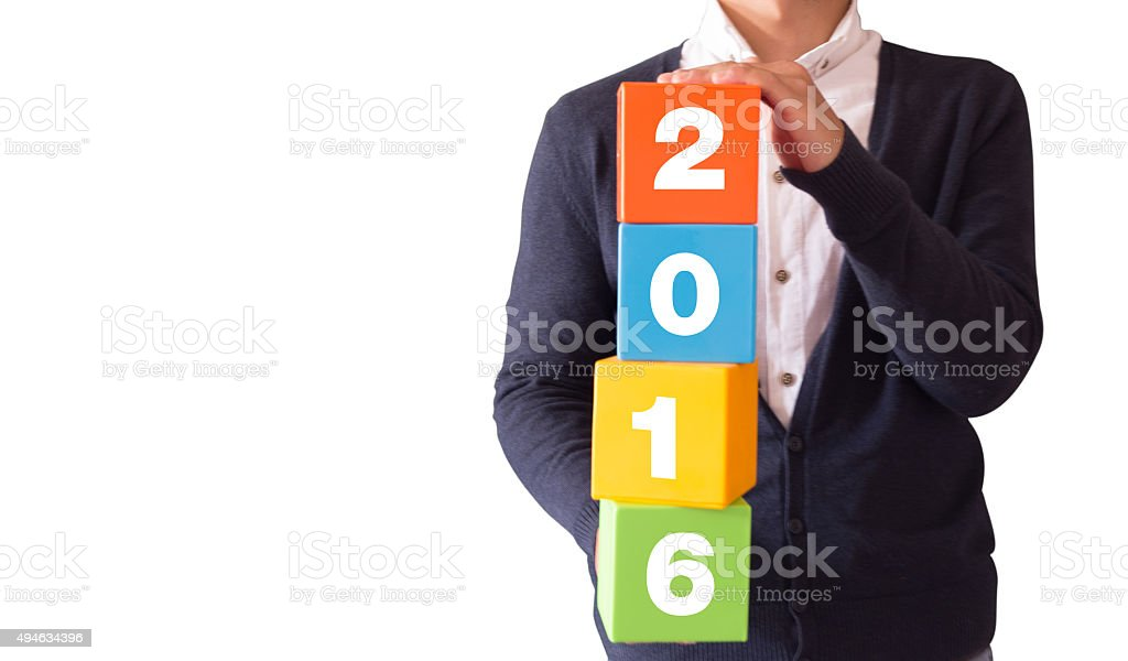 Happy New Year-2016 stock photo