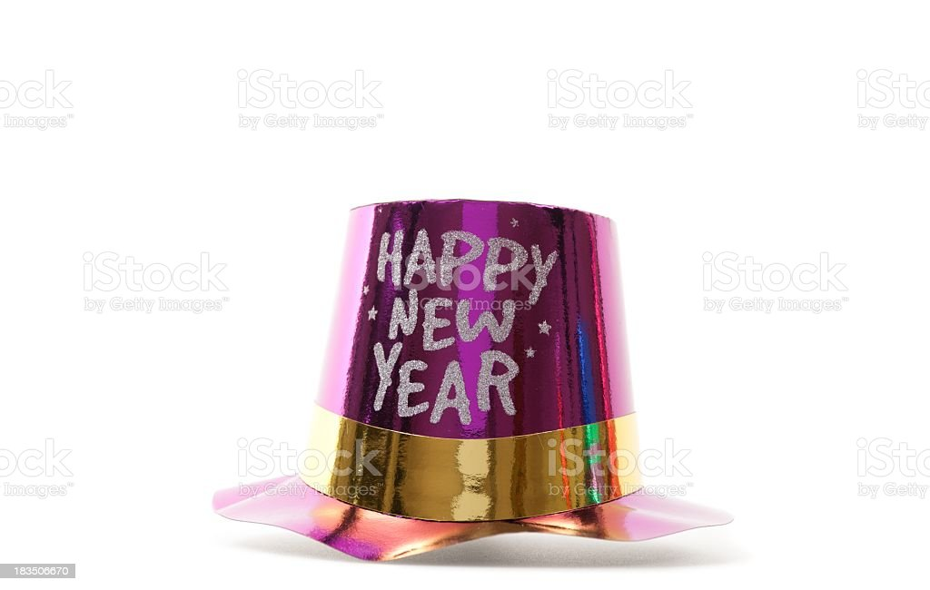 happy new year's hat stock photo