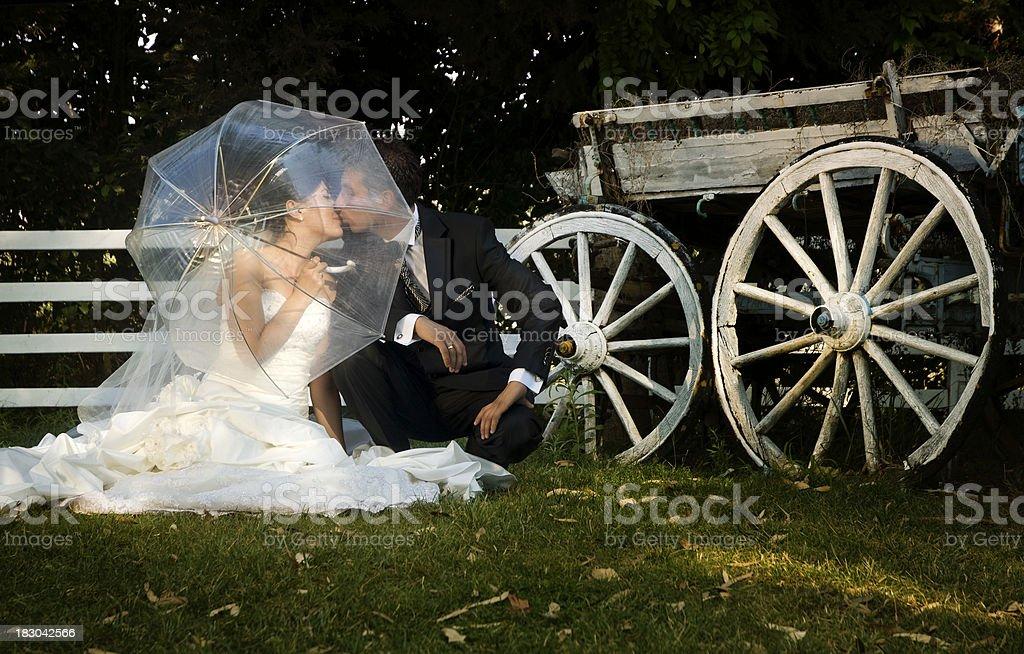 Happy newlywed couple royalty-free stock photo
