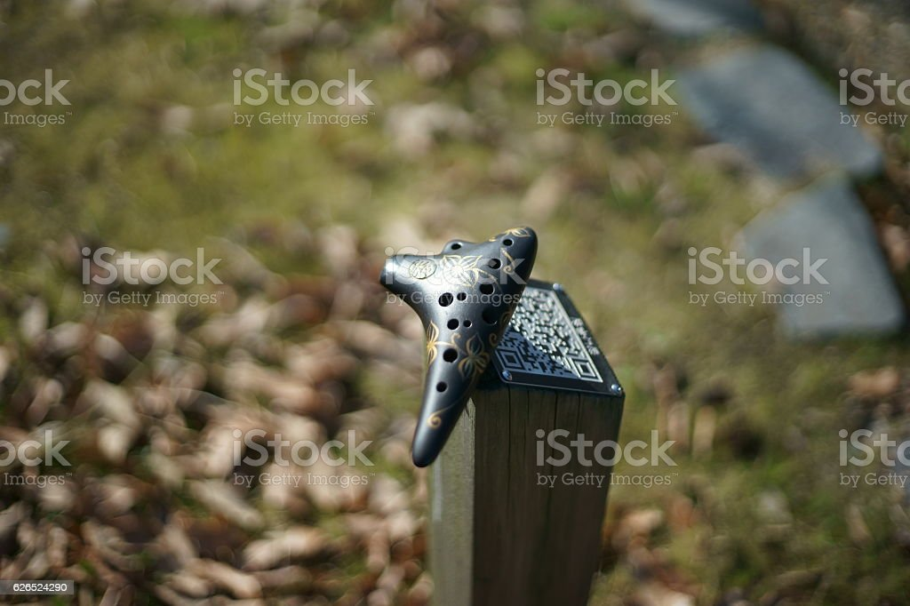 happy ocarina stock photo