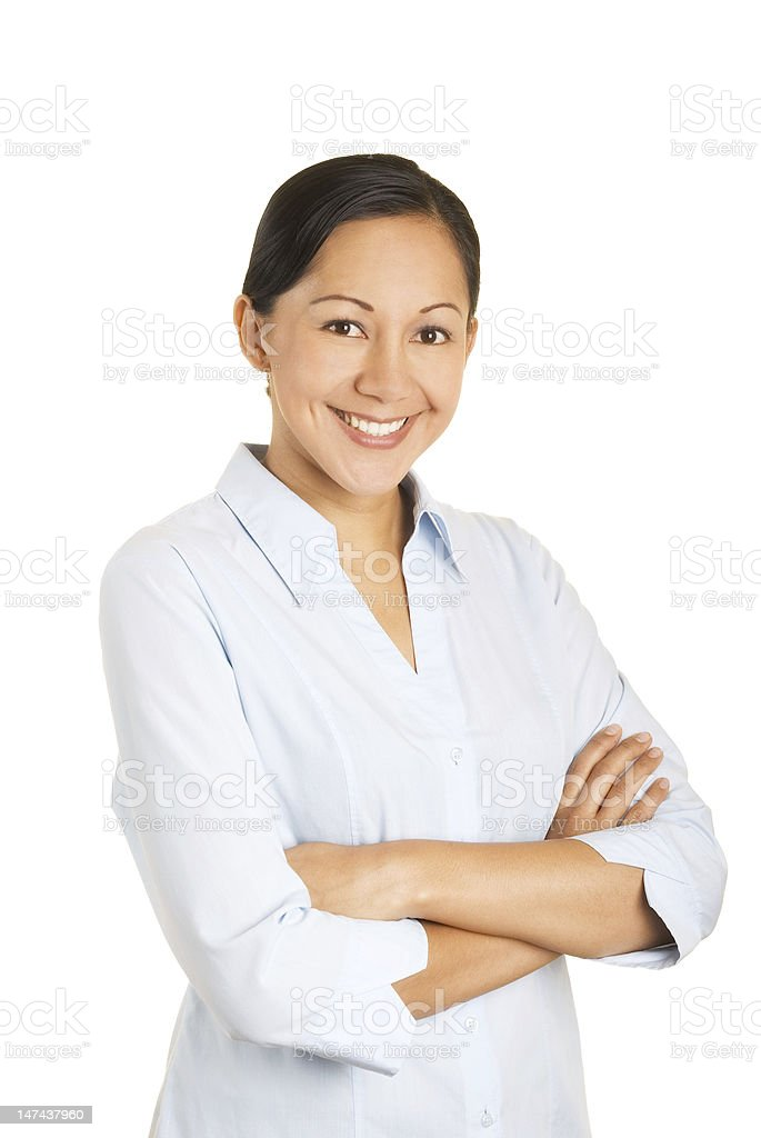 Happy office worker royalty-free stock photo