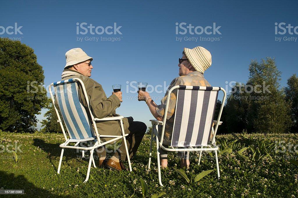 happy old couple royalty-free stock photo