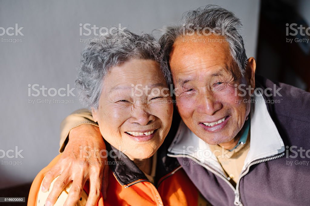 Happy Old Couple stock photo
