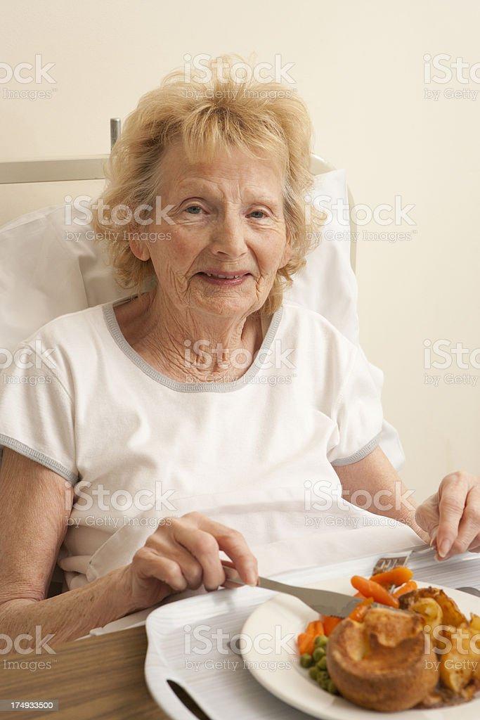 Happy Old Lady royalty-free stock photo