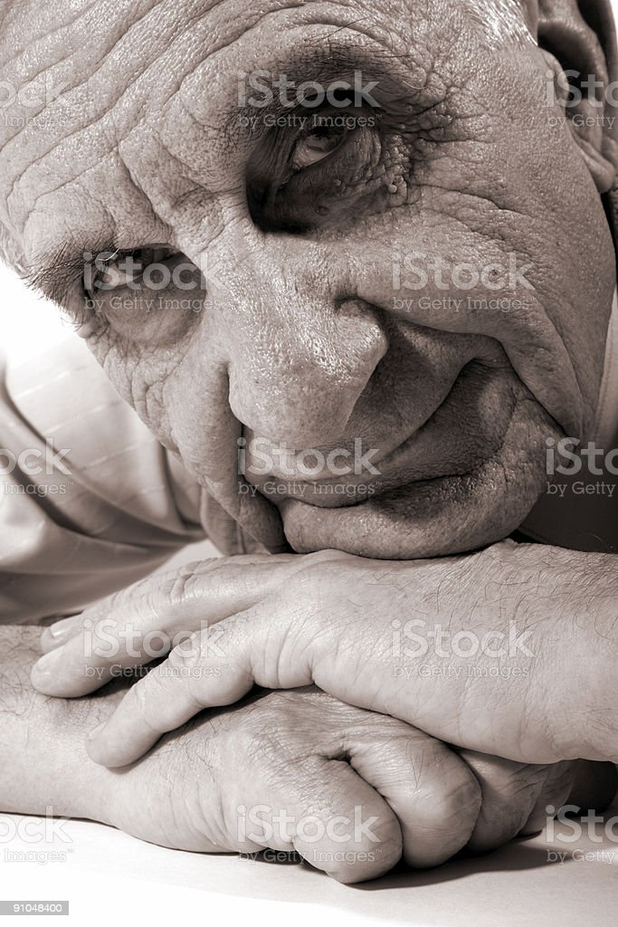 Happy old man royalty-free stock photo