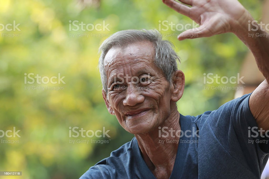 Happy old man smiling royalty-free stock photo