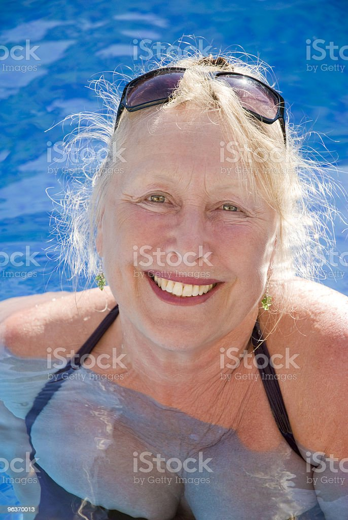 happy older woman royalty-free stock photo